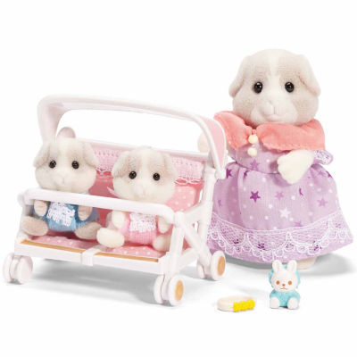 Calico Critters Patty & Paden's Double StrollerSet