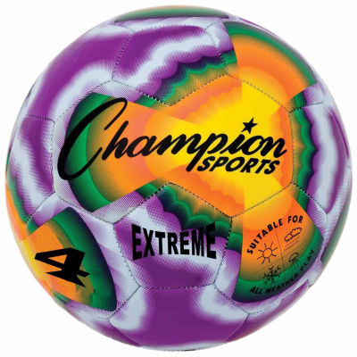 Champion Sports Extreme Tye Dye 4 Soccer Ball