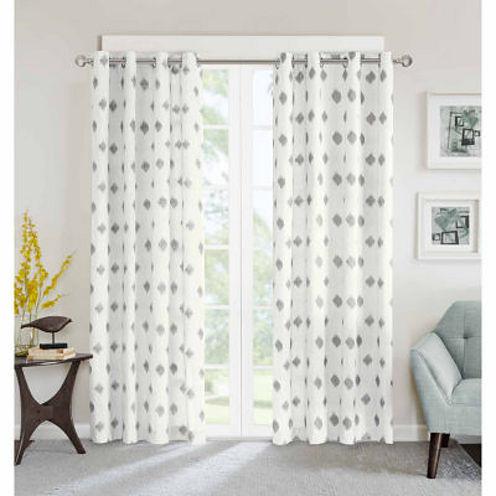 Ory Metallic Ikat Rod-Pocket Curtain Panel