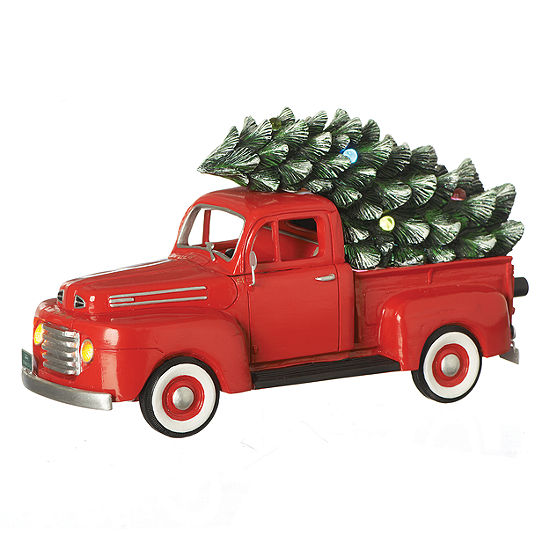 10.25 Inch Led Ford 1948 Truck Musical Christmas Tree Tabletop Decor