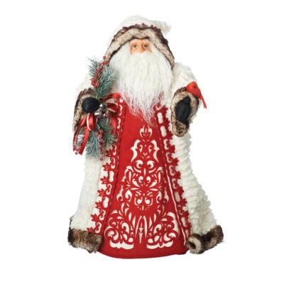 Roman 18 Inch Santa With Cardinal Tree Topper
