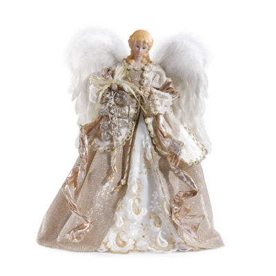 Roman 16 Inch Angel With Champagne Gown Tree Topper
