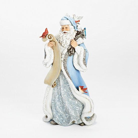 Joseph's Studio 14 Inch Feather Friends With Santa Figurine