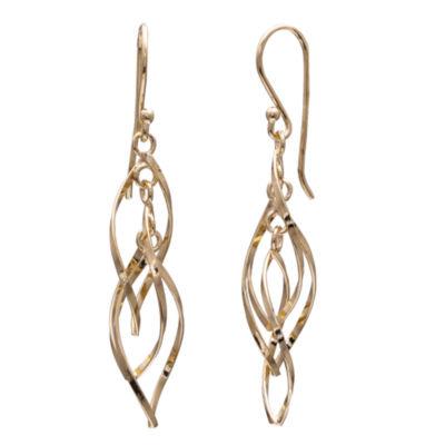 Silver Treasures Silver Treasures 14K Gold Over Silver Drop Earrings