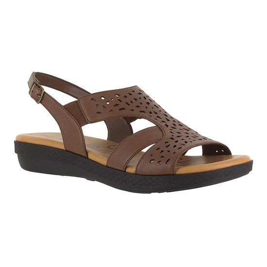 Easy Street Womens Bolt Strap Sandals