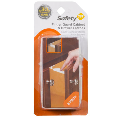 Safety 1st Finger Guard Cabinet And Drawer Latch Safety Latches