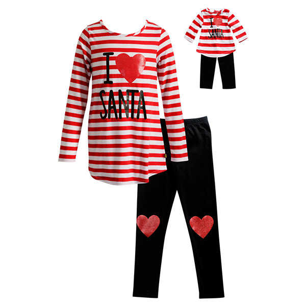Dollie And Me 4-pc. Legging Set-Big Kid Girls