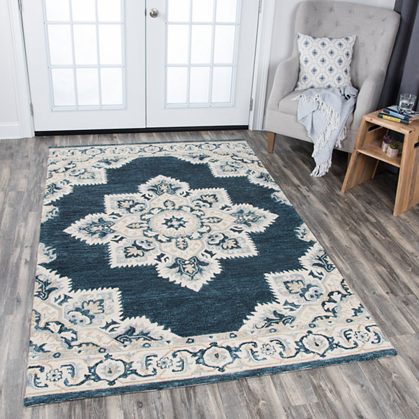 Rizzy Home Resonant Collection Lilliana MedallionRectangular Rugs