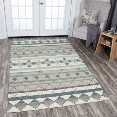 Rizzy Home Resonant Collection Taylor Stripe Rectangular Rugs