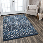Rizzy Home Tumble Weed Loft Collection Alexis Diamond Rectangular Rugs