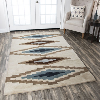 Rizzy Home Tumble Weed Loft Collection Elliana Diamond Rectangular Rugs