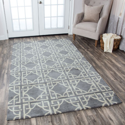 Rizzy Home Valintino Collection Haven Geometric Rectangular Rugs