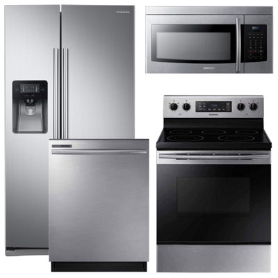 Samsung® 4-pc. Electric Kitchen Package- Stainless Steel