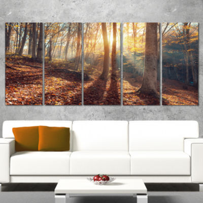 Designart Crimean Mountains Autumn Landscape Photography Canvas Print - 5 Panels