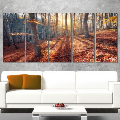 Designart Crimean Mountains Tree Shade LandscapePhotographyCanvas Print - 5 Panels
