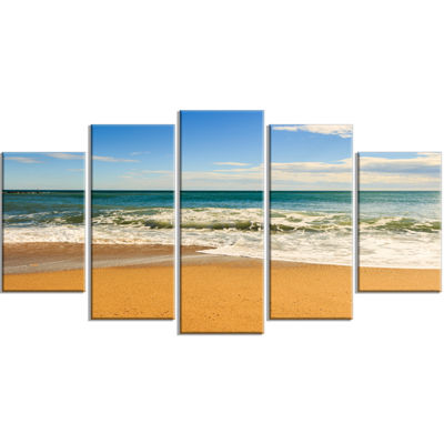Designart Daylight Relaxation Landscape Photography Canvas Art Print - 4 Panels