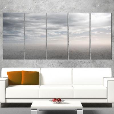 Designart Desert Land And Sky Landscape Canvas ArtPrint - 5 Panels
