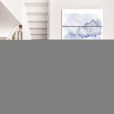 Designart England Cold Landscape Cityscape Painting Canvas Print - 4 Panels