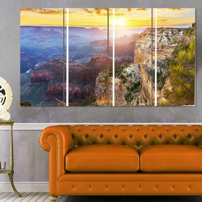 Designart Grand Canyon Landscape Photography Canvas Art Print - 4 Panels