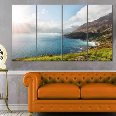 Hout Bay View From Chapman S Peak Abstract CanvasArtwork - 4 Panels