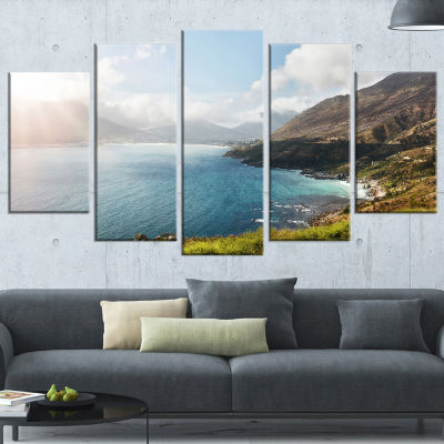 Designart Hout Bay View From Chapman S Peak Abstract CanvasArtwork - 4 Panels