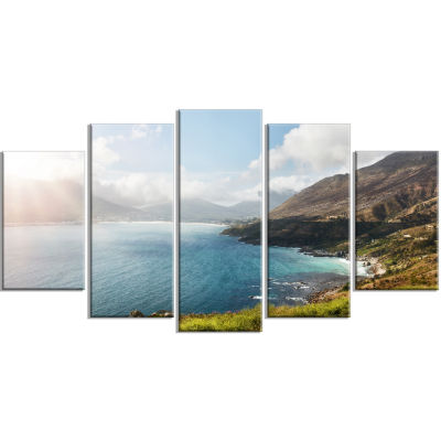 Hout Bay View From Chapman S Peak Abstract WrappedCanvas Artwork - 5 Panels