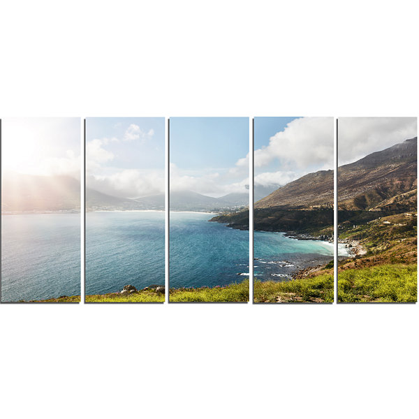 Designart Hout Bay View From Chapman S Peak Abstract CanvasArtwork - 5 Panels