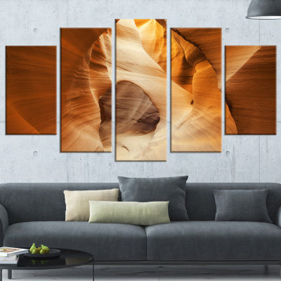 Designart Inside Antelope Canyon Usa Large Landscape Photo Canvas Art Print - 5 Panels