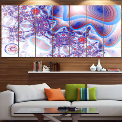 Beautiful Extraterrestrial Life Cells Floral Canvas Art Print - 7 Panels