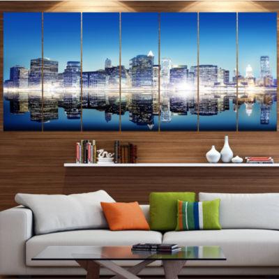 Designart Skyscraper On New York City Cityscape Canvas Art Print - 6 Panels