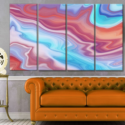 Designart Abstract Marbled Background Abstract Canvas Wall Art - 4 Panels