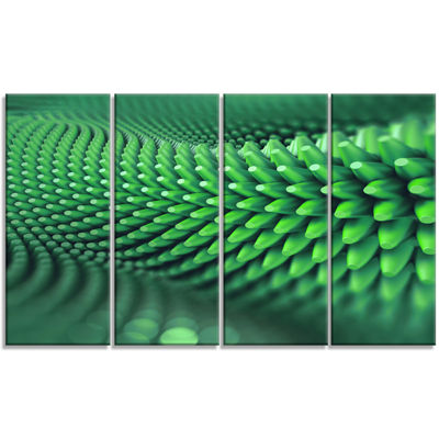 Designart Abstract 3D Spiny Background Abstract Canvas Wall Art - 4 Panels