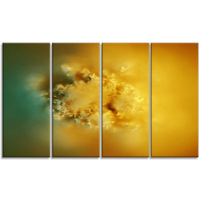 3D Prickly Digital Illustration Abstract Canvas Art Print - 4 Panels