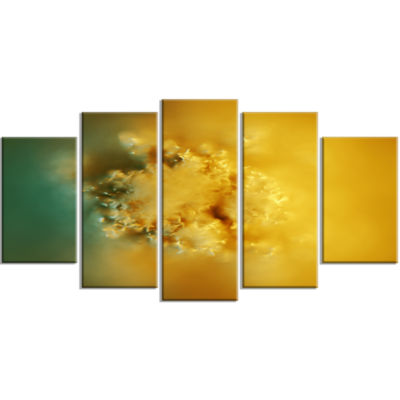 3D Prickly Digital Illustration Contemporary Canvas Art Print - 5 Panels
