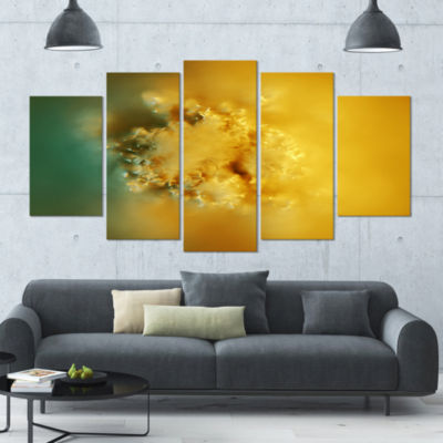 Designart 3D Prickly Digital Illustration Contemporary Canvas Art Print - 5 Panels