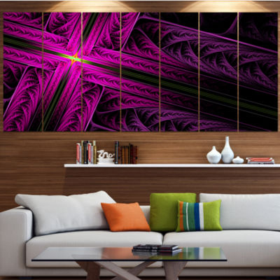 Designart Bright Flash At The Intersection Abstract Canvas Art Print - 4 Panels