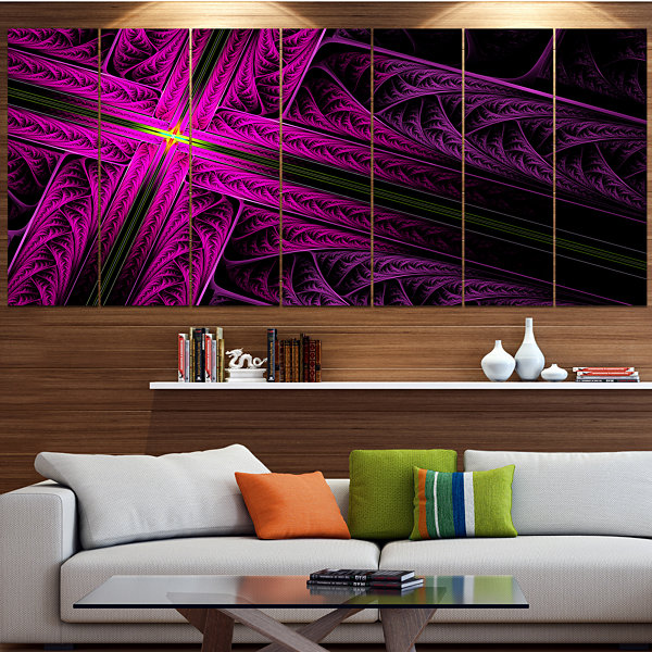 Design Art Bright Flash At The Intersection Contemporary Canvas Art Print - 5 Panels