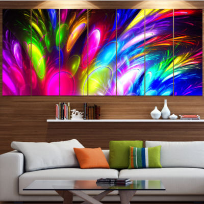 Design Art Mysterious Psychedelic Design Contemporary Canvas Art Print - 5 Panels