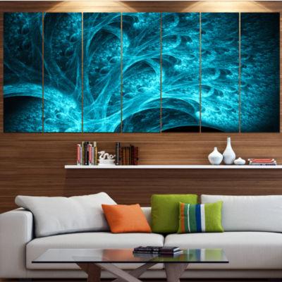 Designart Magical Blue Psychedelic Forest AbstractCanvas Art Print - 4 Panels