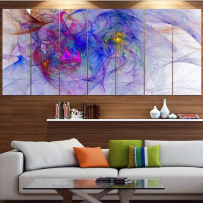 Designart Blue Mystic Psychedelic Texture AbstractArt On Canvas - 7 Panels