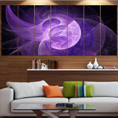 Designart Purple Mystic Psychedelic Design Abstract Art On Canvas - 7 Panels