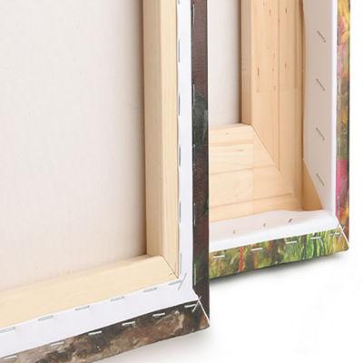 Designart Green Fractal Grill Pattern Abstract ArtOn Canvas- 6 Panels