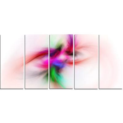 Colorful Electromagnetic Field Abstract Wall Art Canvas - 5 Panels