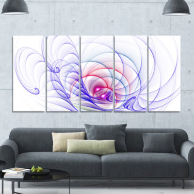 3D Blue Surreal Illustration Abstract Wall Art Canvas - 5 Panels