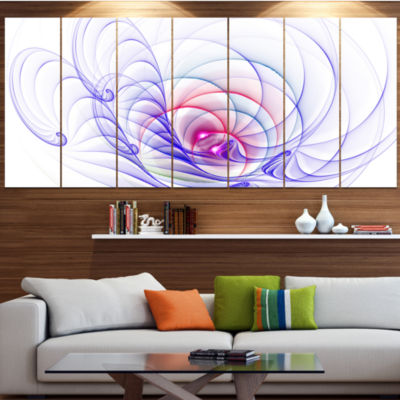 Designart 3D Blue Surreal Illustration Abstract Wall Art Canvas - 7 Panels