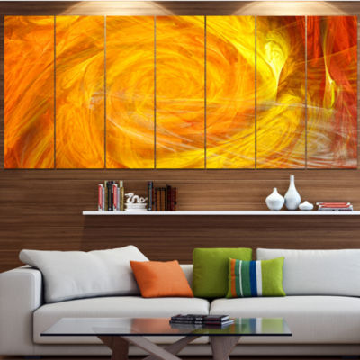 Mystic Abstract Fractal Rose Abstract Wall Art Canvas - 7 Panels