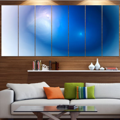 Mysterious Blue Fractal Texture Contemporary WallArt Canvas - 5 Panels