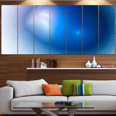Designart Mysterious Blue Fractal Texture AbstractWall Art Canvas - 5 Panels
