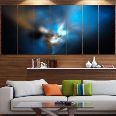 Designart Mystic Green Fractal Abstract Wall ArtCanvas - 7Panels