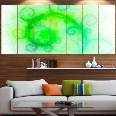 Designart Beautiful Bright Green Pattern Green Abstract Wall Art Canvas - 5 Panels
